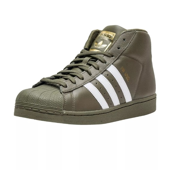 Mens Adidas Olive Green Pro Model Sneakers NWT